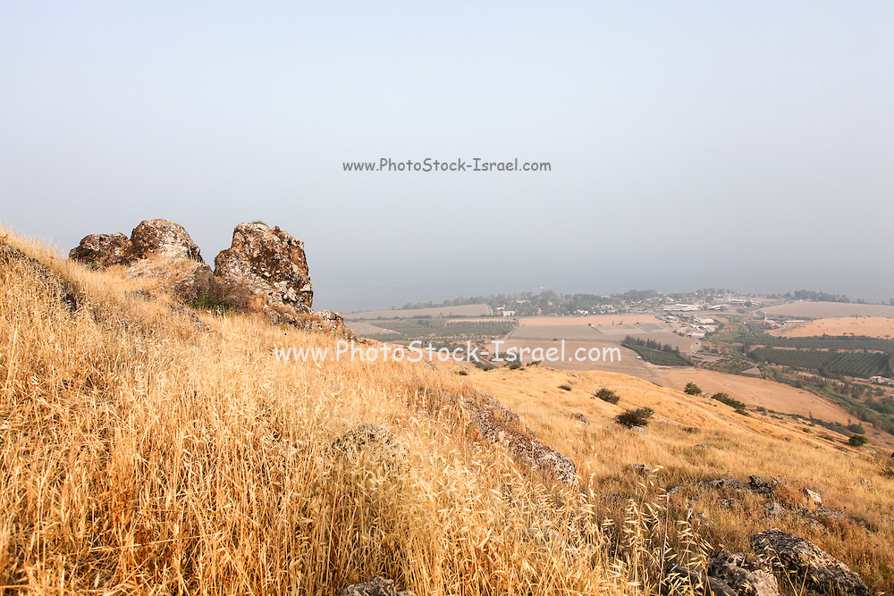Israel, Golan Heights Overlooking the sea of Galilee