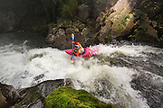 Red Bull athlete Dane Jackson performing at Alseseca river competition in Tlapacoyan Veracruz Mexico, on 10th of January 2015