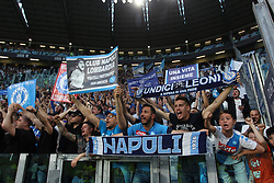 April 22, 2018 - Torino, Piemonte, Italy - in the picture: fans of napoli del at turin stadium.22 April 2018 - Turin, Italy - final match between F.C. Juneventu and SSC Napoli, at the Allianz Stadium in Turin, which is awarded the Scudetto in Serie A in Italy..Napoli wins 1-0. (Credit Image: © Fabio Sasso/Pacific Press via ZUMA Wire)