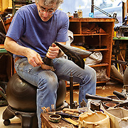 Lee Miller, bootmaker, of Texas Traditions Custom Handmade Boots of Austin, Texas