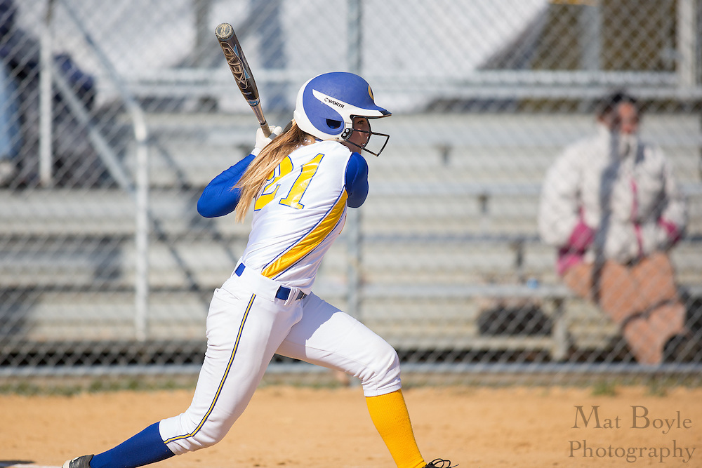 Gloucester County College softball center fielder/ left fielder Taylor Rizzotte (21) - Orange County Community College Softball at Gloucester County College at Gloucester County College softball fields in Sewell, NJ on Tuesday April 2, 2013. (photo / Mat Boyle)