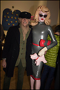 BOB GELDOF AND PANDEMONIA at the Private view for A Strong Sweet Smell of Incense<br /> A Portrait of Robert Fraser, Curated by Brian Clarke. Pace Gallery. 6 Burlington Gardens. London. 5 February 2015.