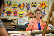 Drawing & Art Exploratory teacher Janet Boyer during Back To School Night at Milpitas High School in Milpitas, California, on August 30, 2016. (Stan Olszewski/SOSKIphoto)