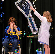 "10/26/09  -  Atlanta, Ga :  Students at Sagamore Hills Elementary School including Jamie O'Melia and Tyler Field in ""Star Gazing"" perform their skits during the 2009 talent show featuring dance, music, comedy and other performances for the annual Showcase of Stars on Monday, October 26, 2009. Director Nancy Briggs, and assistant directors Joe Scivicque and Teresa Libbey helped produce more than 30 acts.     David Tulis         dtulis@gmail.com    ©David Tulis 2009"