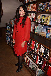 TV chef Ching He Huang at a party to celebrate the publication of Saving The World by Paola Diana at Daunt Books, Marylebone, London England. 2 May 2018.