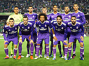 SEVILLE, SPAIN - OCTOBER 15:  Real Madrid CF squad during the match between Real Betis Balompie and Real Madrid CF as part of La Liga at Benito Villamrin stadium October 15, 2016 in Seville, Spain.  (Photo by Aitor Alcalde/Getty Images)