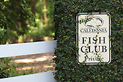 PAWLEYS ISLAND, SC - JUNE 8: Detail view of signage at Caledonia Golf and Fish Club on June 8, 2010 in Pawleys Island, South Carolina. (Photo by Joe Robbins)