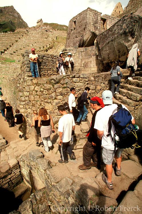 PERU, PREHISPANIC, INCA Machu Picchu; ritual fountains