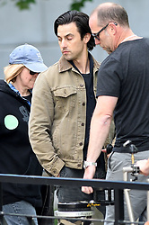 'This is Us' star Milo Ventimiglia begins Filming on 'The Art of Racing in the Rain' in Vancouver. The Actor was seen filming scenes talking to his dog as the movie began production in Canada. 04 Jun 2018 Pictured: Milo Ventimiglia. Photo credit: MEGA TheMegaAgency.com +1 888 505 6342