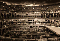 """Holy Cross illuminating the Colosseum - BW""…<br />