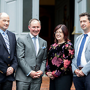 24.05.2018.       <br /> The Limerick Institute of Technology with Atlantic Air Adventures and funding from the Aviation Skillnet presented over forty certificates to Aviation professionals who have completed the Certificate in Aviation, The Aircraft Records Technician Level 7 and Part 21 Design, Level 7.<br /> <br /> Pictured at the event were, Anton Tams, GECAS, Jim Gavin, The Irish Aviation Authority and Manager of the Dublin Football Team, Marian Duggan, Dean of Flexible Learning, LIT and Don Salmon, CAE Parc Aviation.<br /> <br /> LIT in partnership with Atlantic Air Adventures, CAE Parc Aviation, Part 21 Design and industry experts such as Anton Tams, GECAS, Don Salmon, CAE Parc Aviation and Mick Malone, Part 21 Design have developed and deliver these key training programmes with funding for aviation companies provided by The Aviation Skillnet.<br /> <br /> . Picture: Alan Place