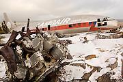 CANADA, Churchill (Hudson Bay).Cargo plane wreck in the vicinities of Churchill
