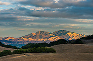 Sunset light on Mount Diablo from Briones Regional Park, Contra Costa County, California