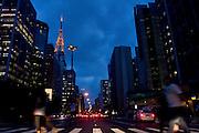 Sao Paulo_SP, Brasil...Avenida Paulista um dos principais centros financeiros de Sao Paulo...The Paulista avenue is one of the most important avenues in Sao Paulo...Foto: MARCUS DESIMONI / NITRO