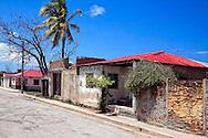 Houses in Puerto Padre, Las Tunas, Cuba.