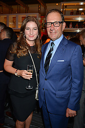 BARONESS BRADY and RICHARD DESMOND at a party to celebrate the 21st anniversary of The Roar Group hosted by Jonathan Shalit held at Avenue, 9 St.James's Street, London on 21st September 2015.