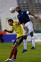 FOOTBALL - UNDER 21 - INTERNATIONAL TOULON FESTIVAL 2011 - FINAL - COLOMBIA v FRANCE - 10/06/2011 - PHOTO PHILIPPE LAURENSON / DPPI - RODRIGUEZ RUBIO JAMES (COL) / DUPLUS FREDERIC (FRA)