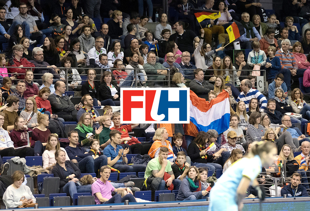 BERLIN - Indoor Hockey World Cup<br /> SF1 Netherlands - Ukraine<br /> foto: Fans<br /> WORLDSPORTPICS COPYRIGHT FRANK UIJLENBROEK