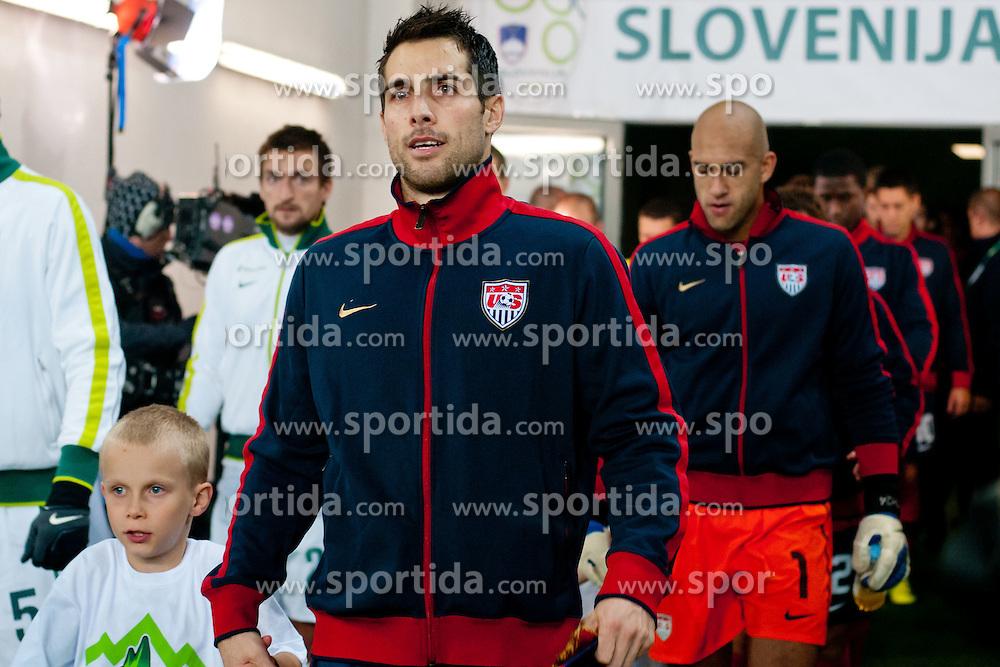 Carlos Bocanegra of USA before friendly football match between National teams of USA and Slovenia, on November 15, 2011 in SRC Stozice, Ljubljana, Slovenia.  USA won 3:2. (Photo By Matic Klansek Velej / Sportida.com)
