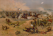 American Civil War 1861-1865:  'Sheridan's Final Charge at Winchester'.  Battle of Opequon also called Third Battle of Winchester, 19 September 1864. Union forces under Sheridan defeated Confederates under Early. Print c1886.
