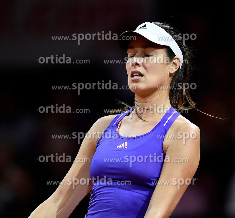 21.04.2015, Porsche Arena, Stuttgart, DEU, WTA Tour, Stuttgart Porsche Grand Prix, im Bild Ana IVANOVIC (SRB) enttaeuscht Enttaeuschung // during the Stuttgart Porsche Grand Prix WTA Tour at the Porsche Arena in Stuttgart, Germany on 2015/04/21. EXPA Pictures &copy; 2015, PhotoCredit: EXPA/ Eibner-Pressefoto/ Weber<br /> <br /> *****ATTENTION - OUT of GER*****