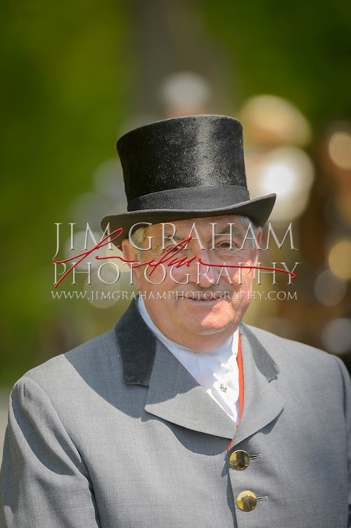 Robert Longstaff in formal livery at Winterthur's Point to Point races, Sunday 3 May 2015. Photography by Jim Graham