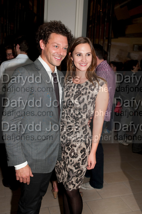 RICHARD COYLE; RUTH BRADLEY, The opening night of Broken Glass at the Vaudeville Theatre. Followed by  the after show party is at One Aldwych. London. 16 September 2011. <br />  , -DO NOT ARCHIVE-© Copyright Photograph by Dafydd Jones. 248 Clapham Rd. London SW9 0PZ. Tel 0207 820 0771. www.dafjones.com.