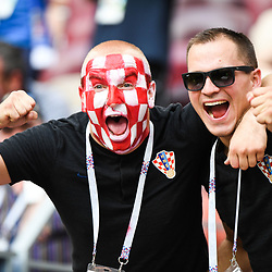 Fans of Croatia during the World Cup Final match between France and Croatia at Luzhniki Stadium on July 15, 2018 in Moscow, Russia. (Photo by Anthony Dibon/Icon Sport)