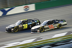 July 13, 2018 - Sparta, Kentucky, United States of America - Tommy Joe Martins (78) and Ty Majeski (60) battle for position during the Alsco 300 at Kentucky Speedway in Sparta, Kentucky. (Credit Image: © Chris Owens Asp Inc/ASP via ZUMA Wire)