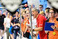 Zwemmen Amsterdam NJJK korte baan 2015 : Sfeerbeeld coaches Sloterparkbad