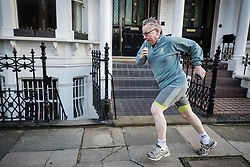 **2018 Pictures of the year by London News Pictures**<br /> © Licensed to London News Pictures. 05/02/2018. London, UK. Environment Sectetary Michael Gove runs near his west London home. Later Brexit Secretary David Davis will meet with European Commission's Chief Negotiator Michel Barnier in Downing Street for talks. Photo credit: Peter Macdiarmid/LNP