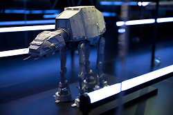 EDITORIAL USE ONLY<br /> AT-AT Walker goes on display at The STAR WARS Identities: The Exhibition at The O2 in London, which features over 200 props, models, costumes and artwork from the original films.