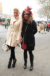 Left to right, HOFIT GOLAN and TARA SMITH at the Hennessy Gold Cup 2010 at Newbury Racecourse, Berkshire on 27th November 2010.