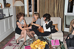 Left to right, KATHY LETTE, PENNY SMITH and EMMA FREUD at The Great Initiative event in association with jewellers Boodles held at The Corinthia Hotel, London on 6th November 2012.