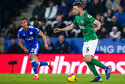 Dale Stephens of Brighton and Hove Albion - Mandatory by-line: Robbie Stephenson/JMP - 26/02/2019 - FOOTBALL - King Power Stadium - Leicester, England - Leicester City v Brighton and Hove Albion - Premier League