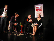 Joss, Ings-chambers, Bill Hurst, Julian Bird and Kinvara Balfour, Dazed and Abused by Kinvara Balfour, the Canal Cafe theatre. London W2. 4 October 2004. ONE TIME USE ONLY - DO NOT ARCHIVE  © Copyright Photograph by Dafydd Jones 66 Stockwell Park Rd. London SW9 0DA Tel 020 7733 0108 www.dafjones.com