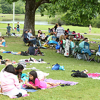 Rankin Elementary School teachers and students enjoy time at Veterans Park in Tupelo during their Field Day on Tuesday.