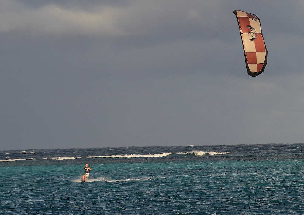 Kite surfing around the world.