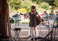 Fiona Campbell performs at Music in the Barn at Adams Farm in Walpole MA on July 25, 2020.