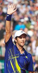 MONTE-CARLO, MONACO - Saturday, April 17, 2010: Fernando Verdasco (ESP) celebrates after winning the Men's Singles Semi-Final 6-2, 6-2 on day six of the ATP Masters Series Monte-Carlo at the Monte-Carlo Country Club. (Photo by David Rawcliffe/Propaganda)