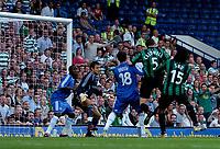 Photo: Daniel Hambury.<br />Chelsea v Glasgow Celtic. Pre Season Friendly. 09/08/2006.<br />Celtic's Gary Caldwell (5) heads the first goal. 0-1.