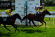 Grandstand ridden by Luke Morris and trained by Richard Price in the Visit Valuerater.Co.Uk For Best Free Tips Handicap (Value Rater Racing Club Summer Sprint Series) (Class 6) race. Harry Beau ridden by Harry Bentley and trained by David Evans in the Visit Valuerater.Co.Uk For Best Free Tips Handicap (Value Rater Racing Club Summer Sprint Series) (Class 6) race. - Ryan Hiscott/JMP - 21/08/2019 - PR - Bath Racecourse - Bath, England - Race Meeting at Bath Racecourse
