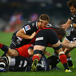 DURBAN, SOUTH AFRICA - JULY 15:  Andre Esterhuizen of the Cell C Sharks during the Super Rugby match between the Cell C Sharks and Sunwolves at Growthpoint Kings Park on July 15, 2016 in Durban, South Africa. (Photo by Steve Haag/Gallo Images)