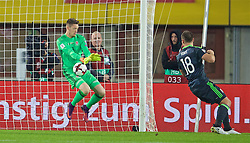 VIENNA, AUSTRIA - Thursday, October 6, 2016: Wales' goalkeeper Wayne Hennessey makes a save against Austria during the 2018 FIFA World Cup Qualifying Group D match at the Ernst-Happel-Stadion. (Pic by David Rawcliffe/Propaganda)