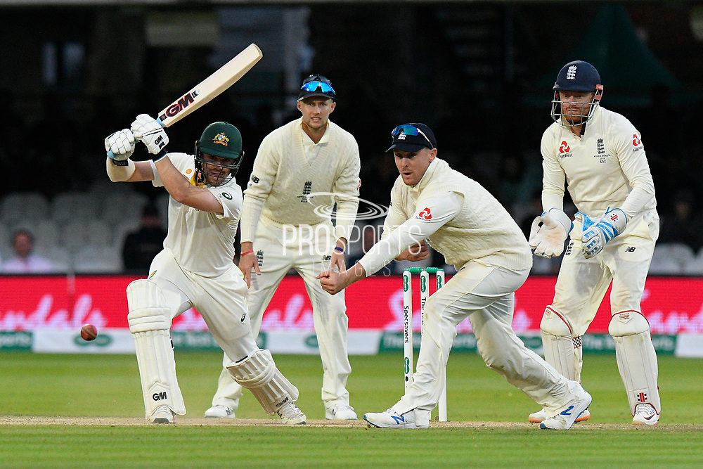 Travis Head of Australia batting during the International Test Match 2019 match between England and Australia at Lord's Cricket Ground, St John's Wood, United Kingdom on 18 August 2019.