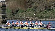 Mortlake/Chiswick, GREATER LONDON. United Kingdom. Aviron Toulousain (FR). Mx.MasB.8+, competing at the 2017 Vesta Veterans Head of the River Race, The Championship Course, Putney to Mortlake on the River Thames.<br /> <br /> <br /> Sunday  26/03/2017<br /> <br /> [Mandatory Credit; Peter SPURRIER/Intersport Images]
