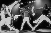 MC and breakdancers U.K Fresh event, 1986.