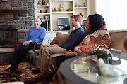 The dean of the College of Arts and Sciences, Robert Frank, hosted a meet and greet with select Ohio University students at his home in Athens, Ohio on Sunday, February 24, 2013. Photo by Chris Franz College of Arts and Sciences Dean Robert Frank