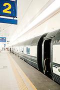 Train at Butterworh station Malaysia. Eastern & Oriental Train
