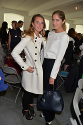 Left to right, OPHELIA THORP and STEPHANIE STOLLER at a lunch in aid of the charity African Solutions to African Problems (ASAP) held at the Louise T Blouin Foundation, 3 Olaf Street, London W11 on 21st May 2014.